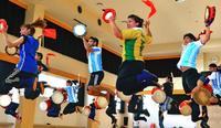 エイサー「世界へジャンプ」 琉球國祭り太鼓、ウチナーンチュ大会向け練習