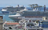 那覇寄港のクルーズ船、貨物バース利用が2割 タクシー乗り入れが課題に