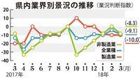 判断指数マイナス9.1に 沖縄県内3月・中小企業景況 電設資材の収益悪化