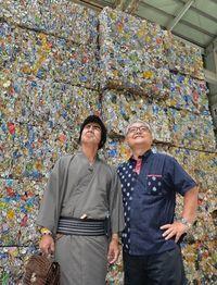 【PR】沖縄を代表する金属リサイクルの老舗「三和金属」 缶も積もれば宝の山だよ!護得久も実践、リサイクル習慣