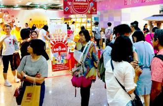 アンテナショップ「日本情報発信館」で開かれた沖縄物産フェア=6月29日、台北市内(同ショップ提供)