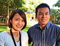 [ワールド通信員ネット]/@米ハワイ/未来のリーダー 世界から刺激/APLP参加 仲田さん・ミネイさん