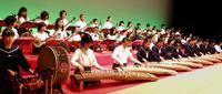 初の大舞台、緊張の音色 沖縄各地で「さんしんの日」