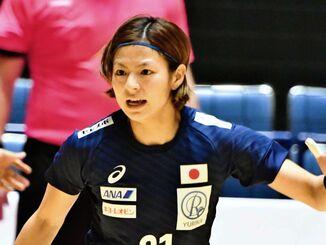 ハンドボール女子の東京五輪代表に選ばれた池原綾香=2019年11月、国立代々木競技場