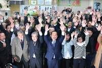 【開票率100%】名護市長選:渡具知氏が2万389票で当選 稲嶺氏1万6931票で3400票差つく