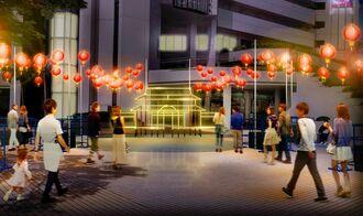 首里城をかたどったLEDライトのオブジェを点灯する「首里城うむいの燈(あかり)モニュメント」のイメージ図