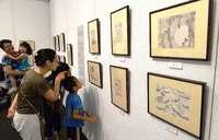 富嶽百景「見たかった」 葛飾北斎展始まる 浦添市美術館、9月2日まで
