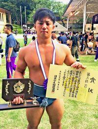 宮城、全国3位 学生相撲85キロ未満