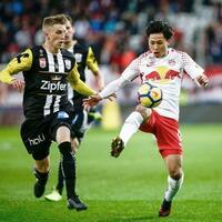 サッカー奥川、今季3点目 オーストリア1部リーグ