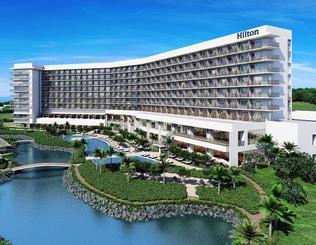 2020年に開業予定のヒルトン沖縄瀬底リゾート(仮称)は約300室を備える(森トラスト提供)