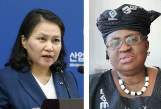 韓国産業通商資源省の兪明希通商交渉本部長、ナイジェリアのオコンジョイウェアラ元財務相