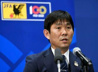 オンライン記者会見で、東京五輪に臨むサッカー男子U―24日本代表メンバーを発表した森保一監督=22日((C)JFA)