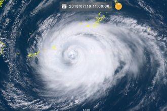 10日午前11時現在の台風8号(NICTひまわり8号リアルタイムwebから)