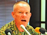ニコルソン氏「つらい日々あったが…」 沖縄米軍トップにスミス中将が就任