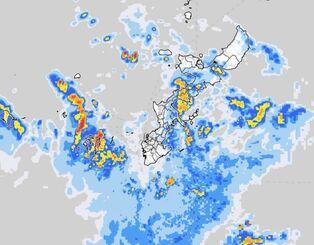 15日午前8時30分の雨雲の様子(気象庁HPから)