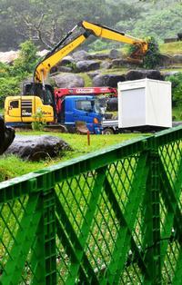 石垣島の陸自駐屯地、早ければ来週にも着工か 資機材や重機搬入