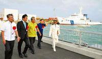 尖閣警備を強化 石垣海上保安部の船艇基地披露