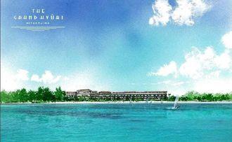 リュウセイホールディングスが宮古島で計画しているリゾートホテルのイメージ図(同社提供)