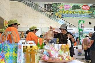 ふるさと元気応援企画「結の村 大宜味 物産・観光と芸能フェア」は那覇市久茂地のタイムスビルで10月2日まで