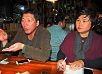 韓国・少女像制作の夫妻が来沖 「朝鮮半島も沖縄も戦争が続いている」