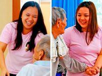 しまくとぅばも駆使する、インドネシアの看護学生 献身介護が好評