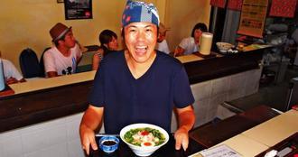 「おいしい麺料理」を追求する今泉亮店主=16日、宮古島市平良下里