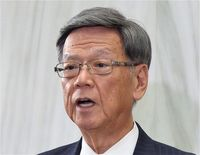 翁長知事「辺野古新基地反対は変わらない」 名護市長選の結果で