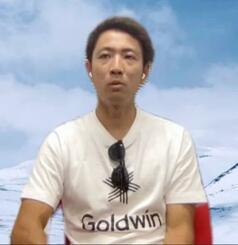 オンラインで取材に応じるノルディックスキー複合男子の渡部暁斗=28日