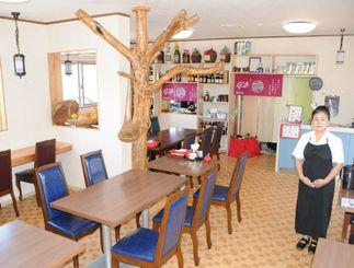 「新鮮な食材を使った料理をお客さんに食べてほしい」と語る平安山清美さん