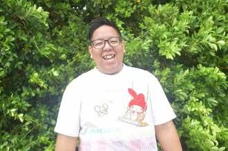「保育士という仕事が大好きなんです」と話すみっちーせんせい=8月、沖縄市内