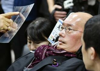 れいわ新選組の舩後靖彦氏