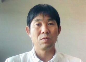 オンラインで取材に応じるサッカー日本代表の森保監督=4日