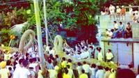 謎のネガ、この写真どこ? 沖縄の綱引き風景 70年代か 「情報提供を」