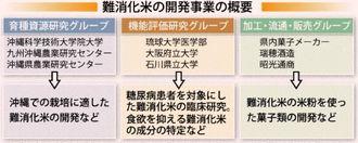 難消化米の開発事業の概要