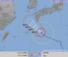 台風19号経路図=21日午前6時現在(気象庁HPから)