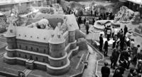 [きょうナニある?]/話題/「北欧」テーマ 砂像展示/鳥取 砂の美術館