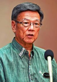 翁長知事、県民投票は「県民主体で」 辺野古埋め立て承認撤回の時期は