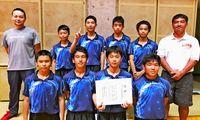 男子糸満 女子西崎V/県中学卓球団体