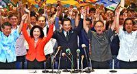 「オール沖縄」勢力、参院選で高良氏を支援 糸数氏も同席、結束を強調