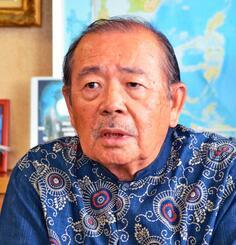 「住民の批判は的外れで度を過ぎている」と語る宮古島市の長濱政治副市長