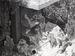 (資料写真)1987年11月に破壊された、チビチリガマの入り口にある「世代を結ぶ平和の像」