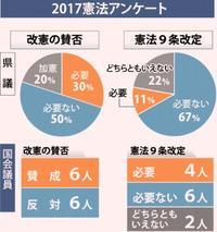 沖縄県議、県関係国会議員の50%「改憲必要なし」 9条改定も反対が過半数