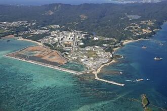 沖縄県名護市辺野古の沿岸部=2020年12月