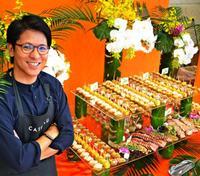 うまい料理に華やぐ会場デザイン・・・人気の決め手は「演出力」 上間天ぷら、ケータリング好調