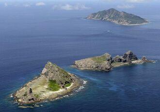 An estimated 100 Chinese ships intrude each year into the territorial waters surrounding the Senkaku Islands.   KYODO