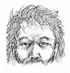 嘉手納署が情報提供を呼び掛けている、身元不明遺体の復元した顔のイメージ画像(沖縄県警のホームページから)