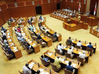 沖縄県議会の議場