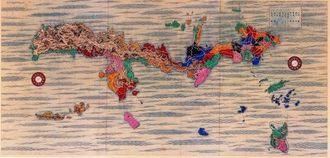 「琉球国之図」の一部(沖縄県立図書館所蔵)