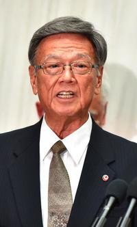港使用許可したが・・・翁長知事、沖縄防衛局に海上搬送の停止要求