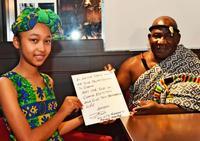 ありがとう伝えたくて…ガーナの「王様」が沖縄へ 楽器を贈った少女と対面